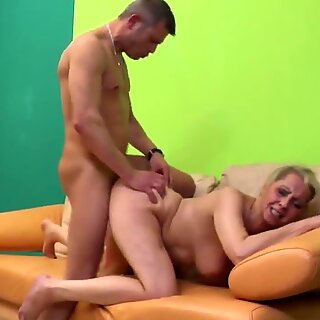 Granny hard fucked by young lover